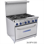 "Bakers Pride 24-BPV-4B-S20 24"" 4-Burner Gas Range, LP"