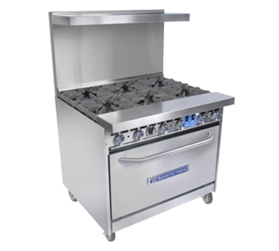 "Bakers Pride 36-BP-6B-C 36"" 6-Burner Gas Range, NG"