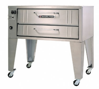 Bakers Pride 4151 NG 54 in Convection Flo Pizza Deck Oven Stubby Shallow Depth Single Deck NG Restaurant Supply