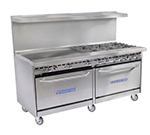 "Bakers Pride 72-BP-6B-G36-S30 72"" 6-Burner Gas Range with Griddle, NG"