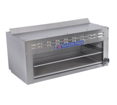 "Bakers Pride BPCM-36 36"" Gas Cheese Melter w/ Infrared Burner, Stainless, LP"