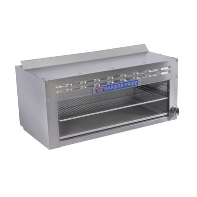 "Bakers Pride BPCM-48 48"" Gas Cheese Melter w/ Infrared Burner, Stainless, NG"
