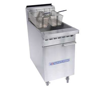 Bakers Pride BPF-4050 Gas Fryer - (1) 50-lb Vat, Floor Model, NG