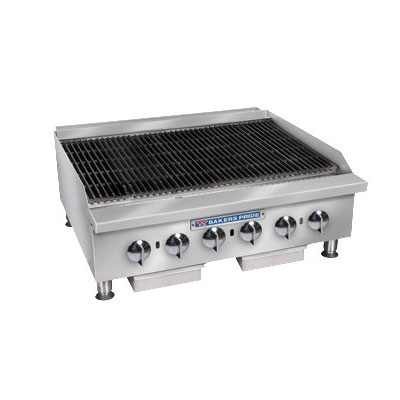 "Bakers Pride BPHCB-2424I 24"" Gas Charbroiler w/ Manual Controls & Steel Radiants, 80000-BTU, LP"