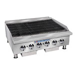 "Bakers Pride BPHCB-2436I 36"" Gas Charbroiler w/ Manual Controls & Steel Radiants, 120000-BTU, NG"