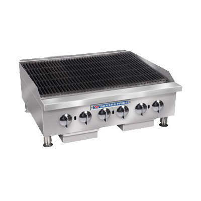 "Bakers Pride BPHCRB-2436I 36"" Gas Charbroiler w/ Manual Controls & Char Rock, 120000-BTU, NG"