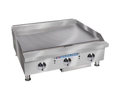 "Bakers Pride BPHMG-2424I 24"" Gas Griddle - Manual, 1""  Plate, NG"