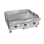 "Bakers Pride BPHMG-2436I 36"" Gas Griddle - Manual, 1""  Plate, LP"