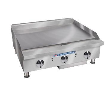 "Bakers Pride BPHMG-2436I 36"" Gas Griddle - Manual, 1""  Plate, LP"