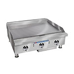 "Bakers Pride BPHMG-2436I 36"" Gas Griddle - Manual, 1""  Plate, NG"