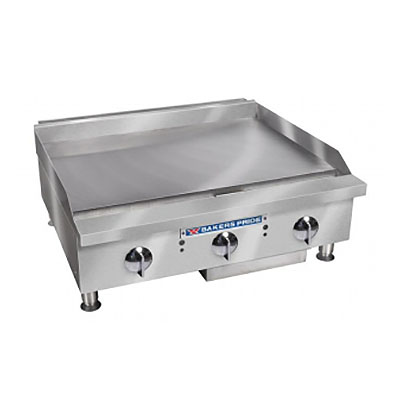 "Bakers Pride BPHMG-2448I 48"" Gas Griddle - Manual, 1""  Plate, LP"