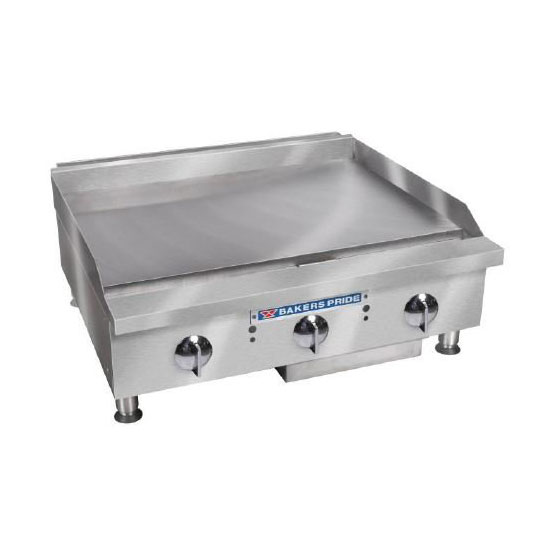 "Bakers Pride BPHTG-2436I 36"" Gas Griddle - Thermostatic, 1"" Steel Plate, LP"