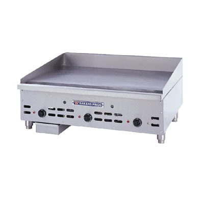 "Bakers Pride BPHTG-2472I 72"" Gas Griddle - Thermostatic, 1""  Plate, NG"