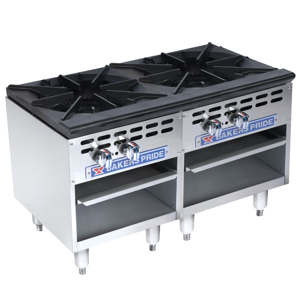Bakers Pride BPSP-18-2D 2-Burner Stock Pot Range, LP
