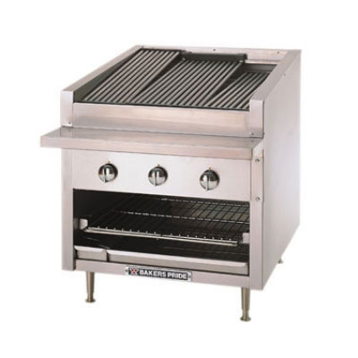 """Bakers Pride C30R 30"""" Gas Charbroiler - Stainless Radiants, NG"""