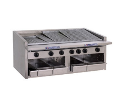 Bakers Pride C48R LP 48 in Profile Charbroiler, 165,000 BTU, Counter Model, SS Radiants, LP