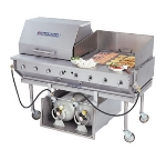 "Bakers Pride CBBQ-60S-CP 62"" Outdoor Gas Charbroiler - (2) Nickel-Chrome Plated Grates, LP"
