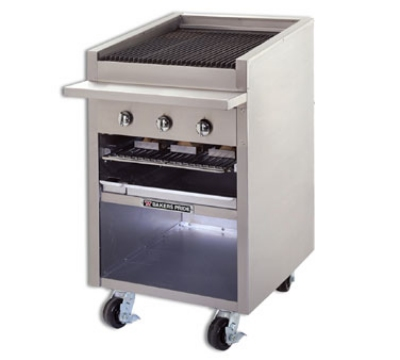 "Bakers Pride F-24R 24"" Charbroiler, 75,000 BTU, Floor Model,Stainless Radiants, NG"