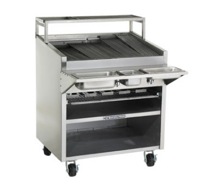 Bakers Pride F36GS NG 36 in Charbroiler, 120,000 BTU, Floor Model, Glo-Stone, NG