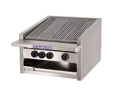 Bakers Pride L24GS NG 24-in Low Profile Countertop Charbroiler, Glo-Stone, NG