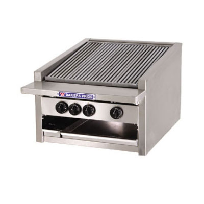 """Bakers Pride L-24R 24"""" Gas Charbroiler - (5) Stainless Radiants, Low Profile, NG"""