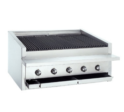 "Bakers Pride L36R 36"" Low Profile Countertop Charbroiler, Radiant, LP"