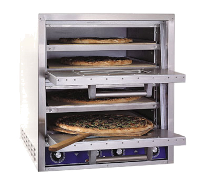Bakers Pride P44S Countertop Pizza/Pretzel Oven - Double Deck, 240v/3ph