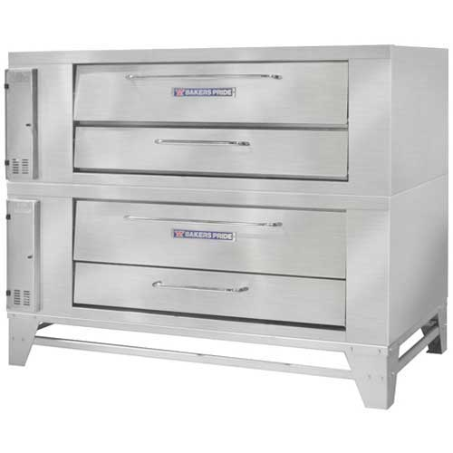 Bakers Pride V-802 Double Pizza Deck Oven, NG