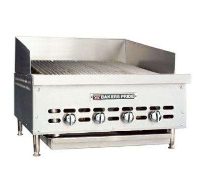 Bakers Pride XX4NG 26.25-in Extra Low Profile Charbroiler, Radiant, NG