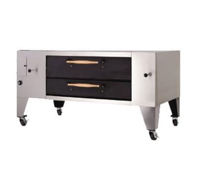 Bakers Pride Y600DSPLP Display Pizza Deck Oven 60 in W Single Deck 30 in Legs LP Restaurant Supply