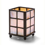 Hollowick 1204MP Mini Square Panel Lamp For HD8, HD12 & HD15, 2.75x3.88-in, Mother Of Pearl