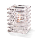 "Hollowick 1501C Square Stacked Glass Lamp for HD12, HD17, HD26, 2.88x3.75"", Clear"