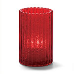 "Hollowick 1502RJ Vertical Glass Rod Lamp w/ Cylinder Shape, 2.88x4.63"", Ruby Jewel"