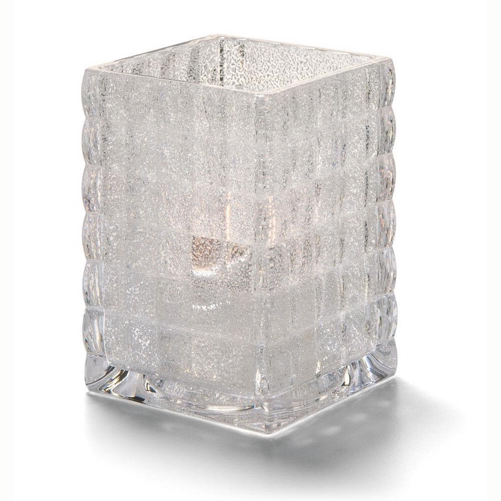 """Hollowick 1533CJ Square Optic Block Glass Lamp for HD12, HD17 & HD26, 2.63x3.75"""", Clear Jewel"""