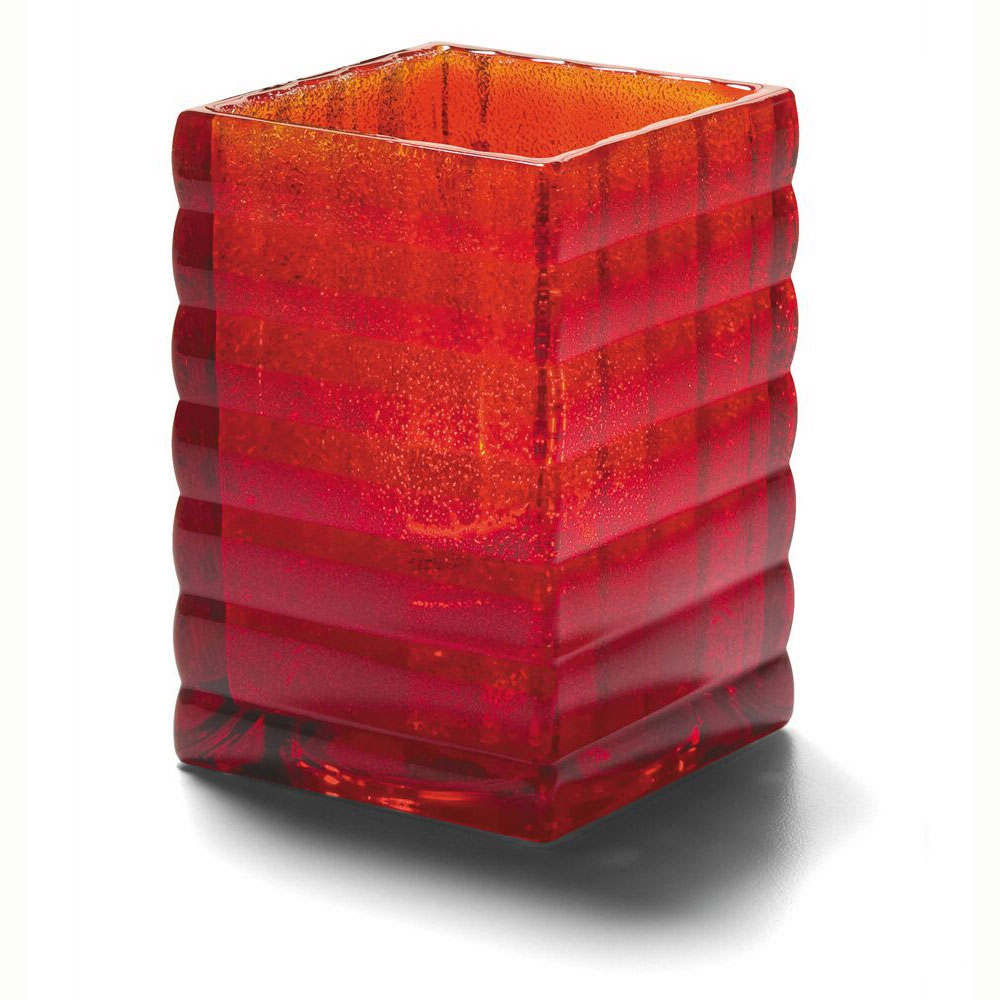 "Hollowick 1533RJ Square Optic Block Glass Lamp for HD12, HD17 & HD26, 2.63x3.75"", Ruby Jewel"