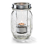 "Hollowick 1610C Firefly Tealight Candle Holder w/ Hanging Cradle - 5.25"" x 3"", Clear"