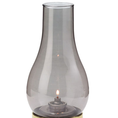 "Hollowick 28S Fitter Globe w/ Chimney Style for 3"" Fitter Bases, 4x7.25x3"", Glass, Smoke"