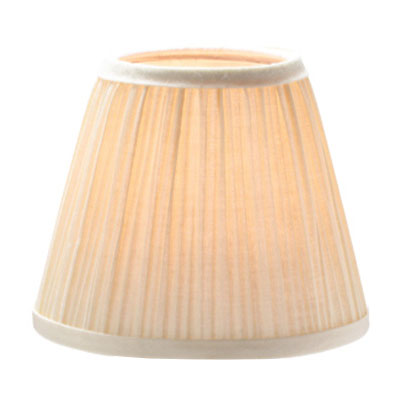 "Hollowick 295I Pleated Slim Line Fabric Lamp Shade w/ Fire Retardant Fabric & Liner, 5x4.5"", Ivory"