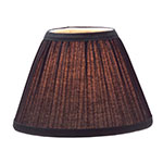 "Hollowick 296B Pleated Slim Line Fabric Lamp Shade w/ Fire Retardant Fabric & Liner, 6x4.5"", Black"