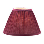 "Hollowick 296BG Pleated Slim Line Fabric Lamp Shade w/ Fire Retardant Fabric & Liner, 6x4.5"", Burgundy"