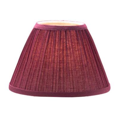 "Hollowick 296BG Pleated Slim Line Fabric Lamp Shade w/ Fire Retardant Fabric & Liner, 6x4.5"", Burgundy"