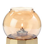 "Hollowick 35G Fitter Globe for 3"" Fitter Base, 3.38x3.13"", Glass, Gold Bubble"