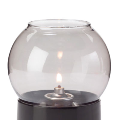 "Hollowick 35S Fitter Globe for 3"" Fitter Base, 3.38x3.13"", Glass, Smoke Bubble"