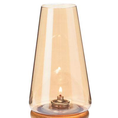 """Hollowick 36AL Fitter Globe w/ Conical Shape for 3"""" Fitter Bases, 4x76.75"""", Glass, Amber Lustre"""