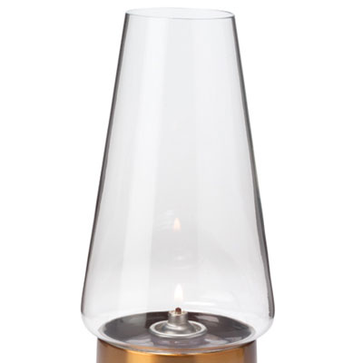 "Hollowick 36C Fitter Globe w/ Conical Shape for 3"" Fitter Bases, 4x76.75"", Glass, Clear"