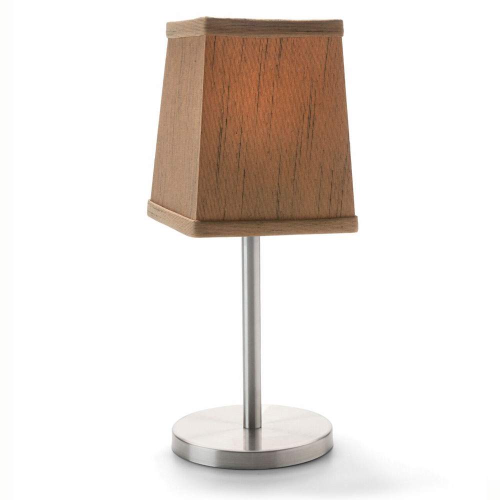 """Hollowick 393SW Tapered Candlestick Shade w/ Square Shape, 4.75x4.25"""", Fabric, Sandlewood"""