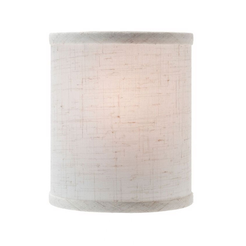 "Hollowick 397FL Candlestick Shade w/ Drum Shape, 5.38x5.75"", Fabric, Flax"