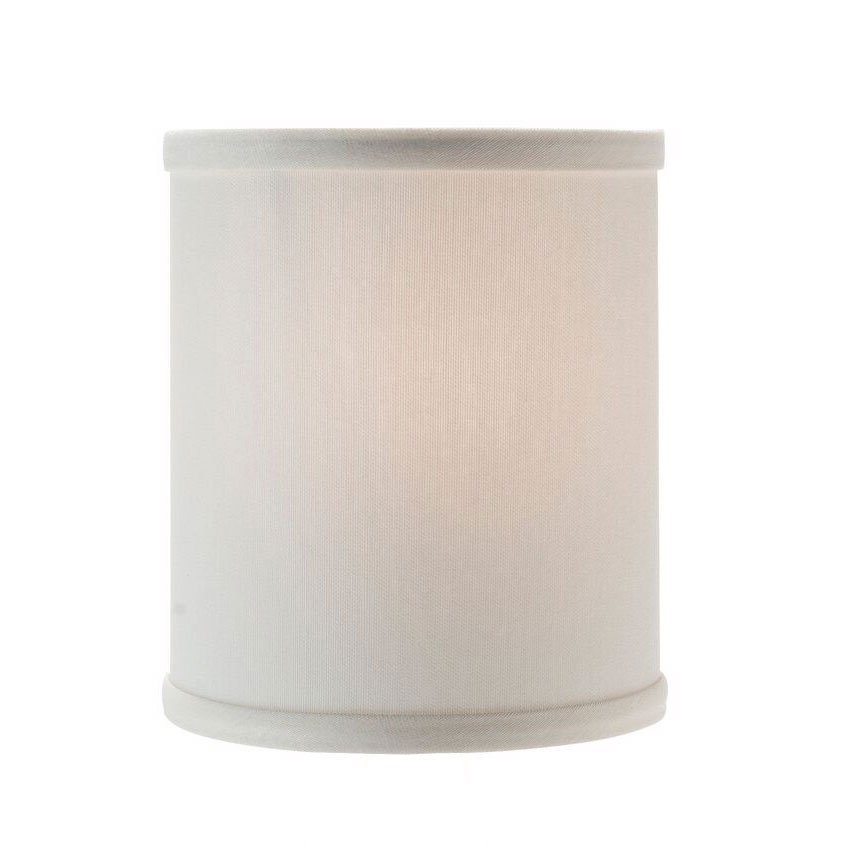 "Hollowick 397I Candlestick Shade w/ Drum Shape, 5.38x5.75"", Fabric, Ivory"