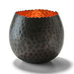 Hollowick 4150 Cauldron Votive Lamp for HD8 & HD12 Fuel Cells, Hammered Copper Metal