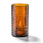 "Hollowick 42517DA Typhoon Candle Holder for HD12, HD17, & HD26 - 2.63"" x 5"", Amber"